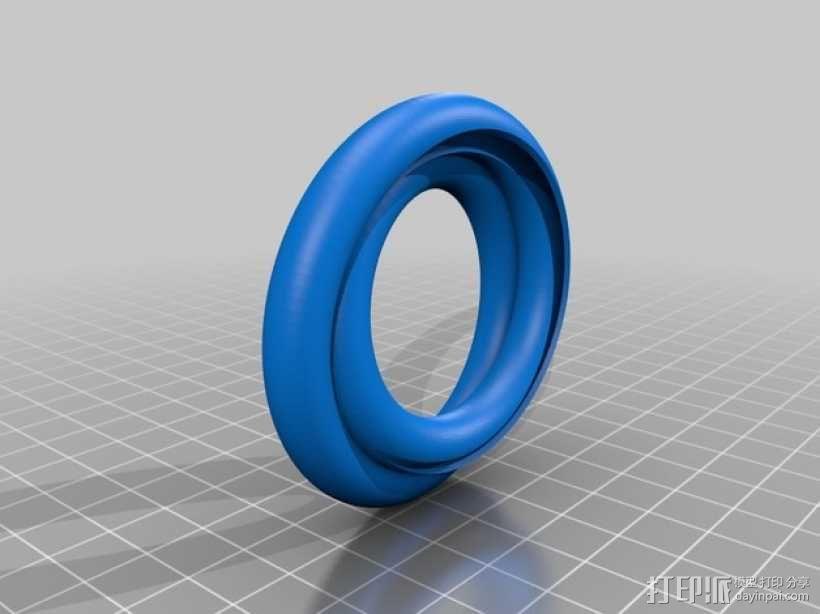 Mobius莫比乌斯 球滚道 3D模型  图2