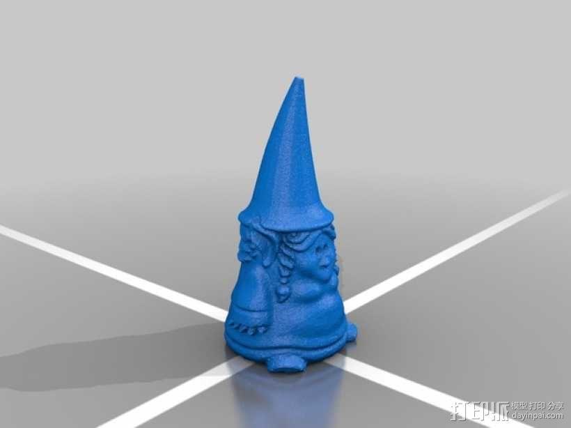 小矮人小姐 雕塑 3D模型  图2