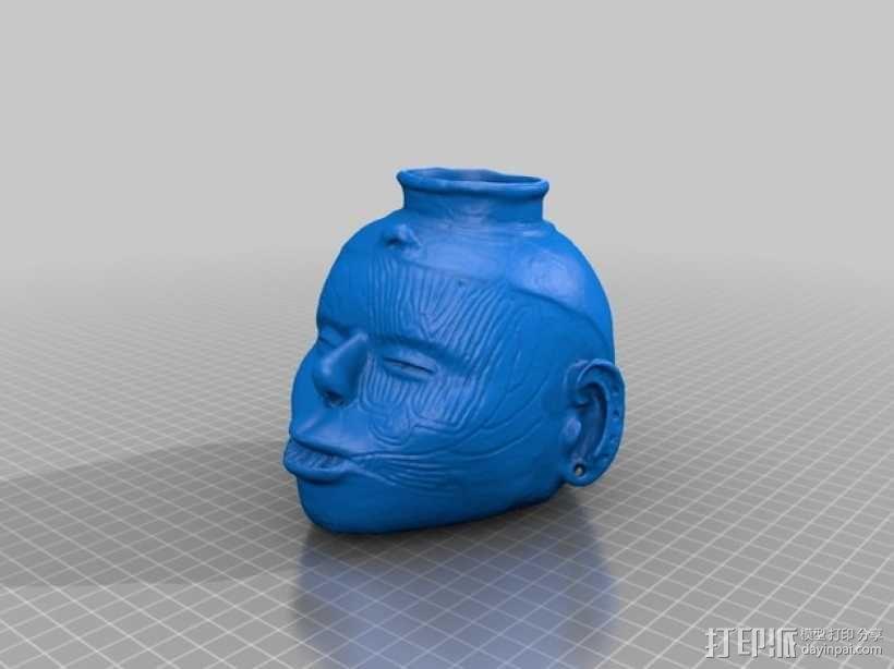 土著居民 头形壶 3D模型  图2