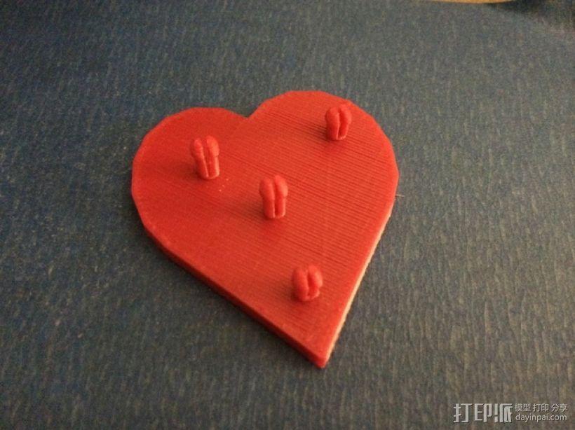 齿轮心形胸针 3D模型  图2