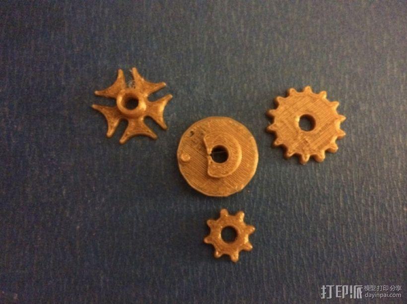齿轮心形胸针 3D模型  图3