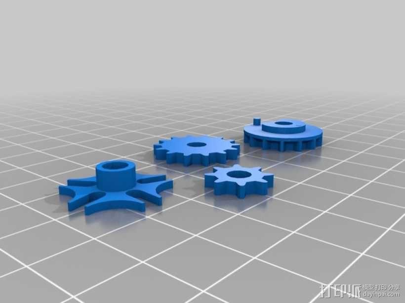 齿轮心形胸针 3D模型  图6