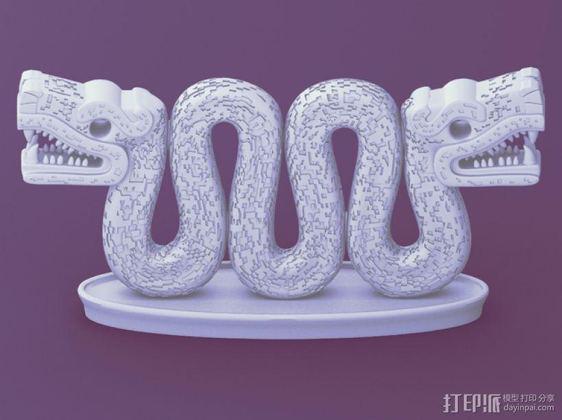 双头蛇 3D模型  图4