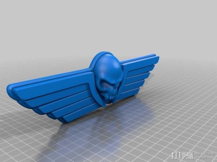 飞行的骷髅头 3D模型  图2