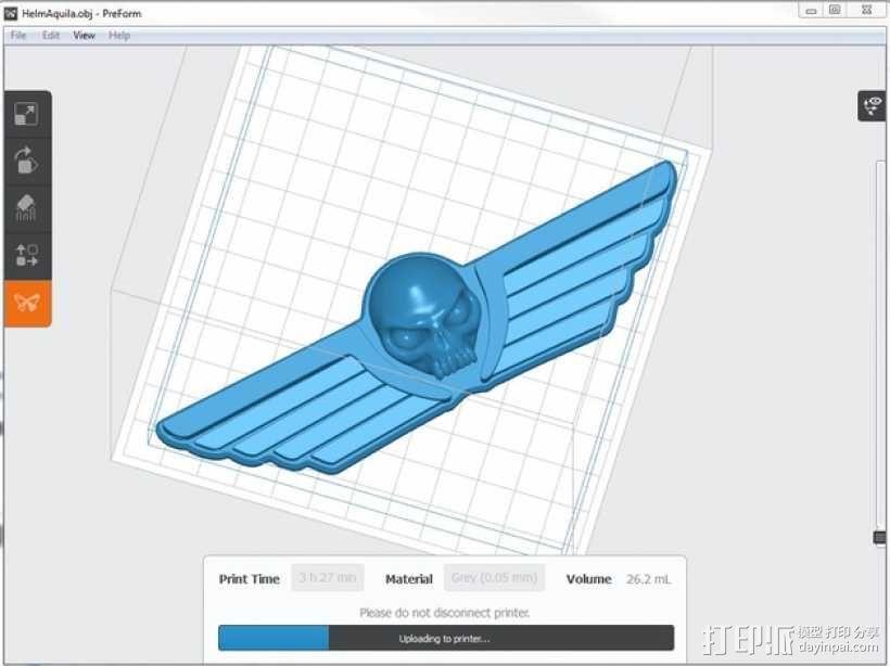 飞行的骷髅头 3D模型  图3