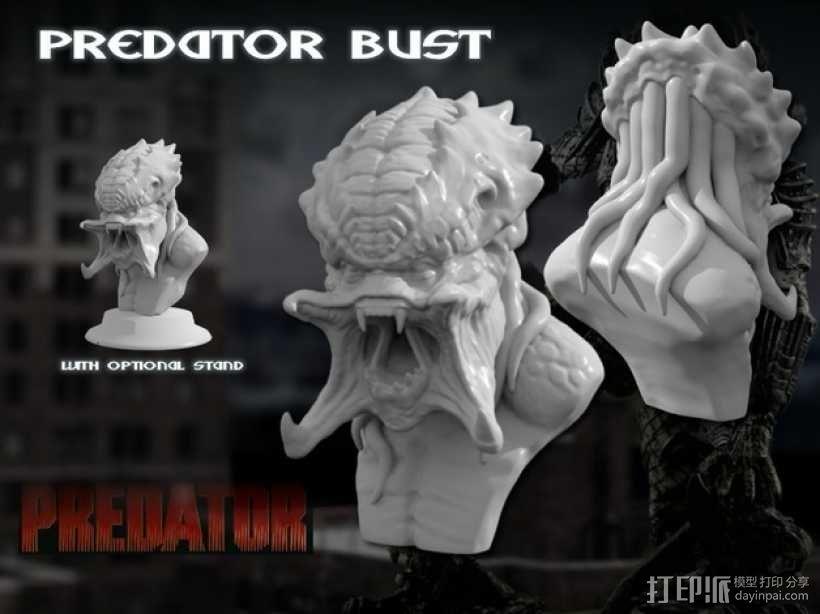 怪物半身头像 3D模型  图1