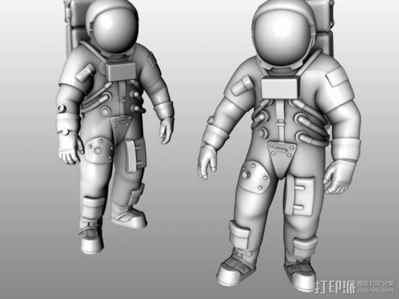 阿波罗号宇航员 模型 3D模型  图1