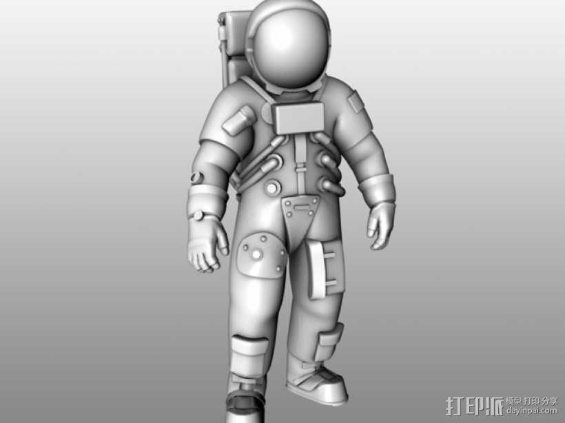 阿波罗号宇航员 模型 3D模型  图4