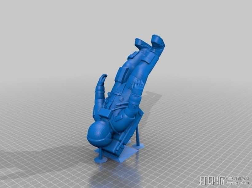 阿波罗号宇航员 模型 3D模型  图3