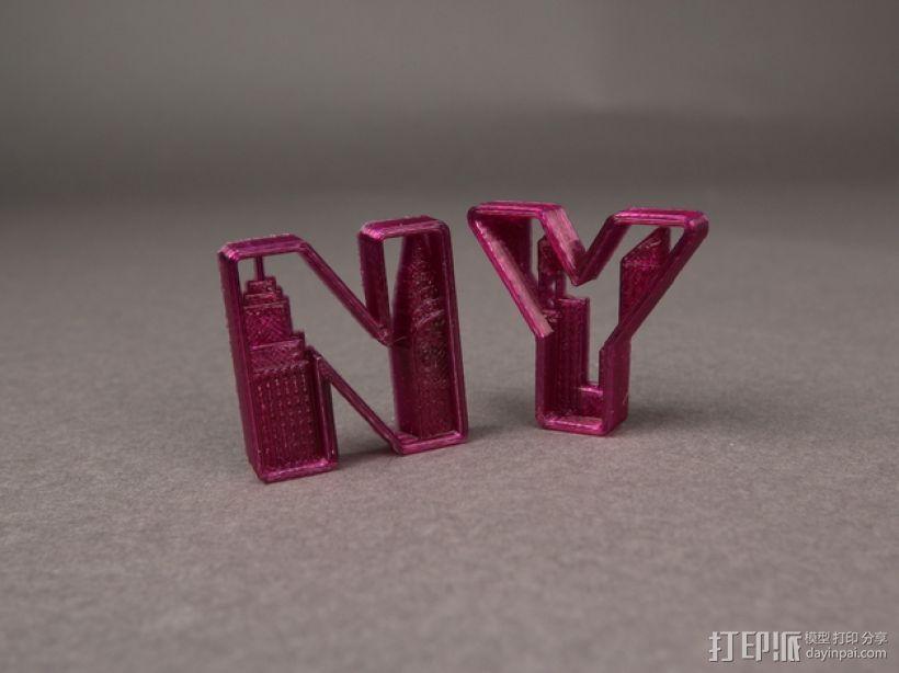 NY 花式字母 3D模型  图2