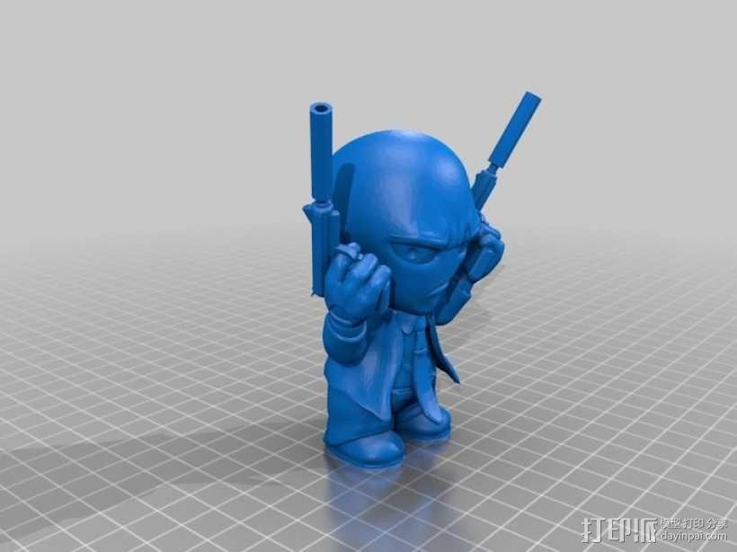 职业杀手 模型 3D模型  图3