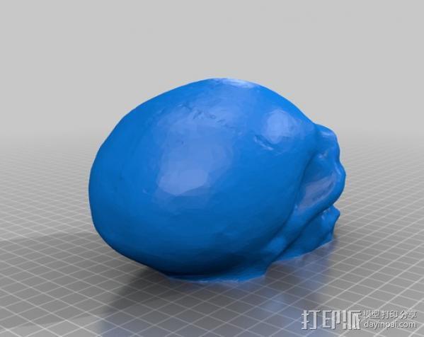 带着尖牙的骷髅 3D模型  图4