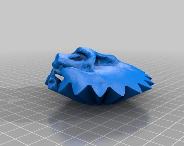 旋转齿轮 头骨模型 3D模型  图2