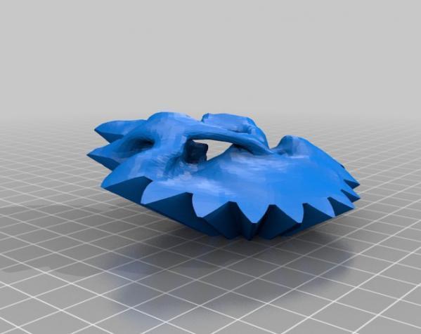 旋转齿轮 头骨模型 3D模型  图4