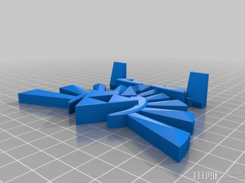 海拉尔山峰 奖章 3D模型  图1