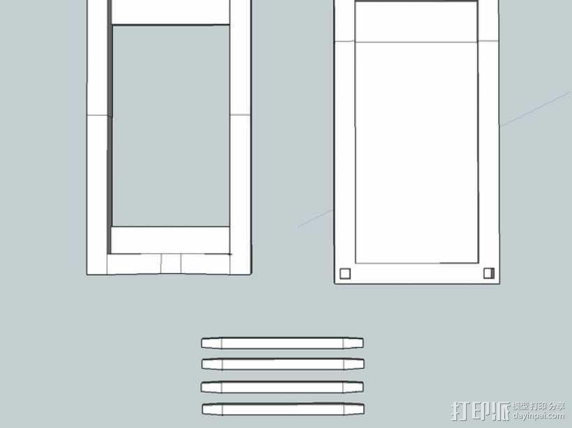 iPhone 5/S/C + iPod Touch全息室 3D模型  图4