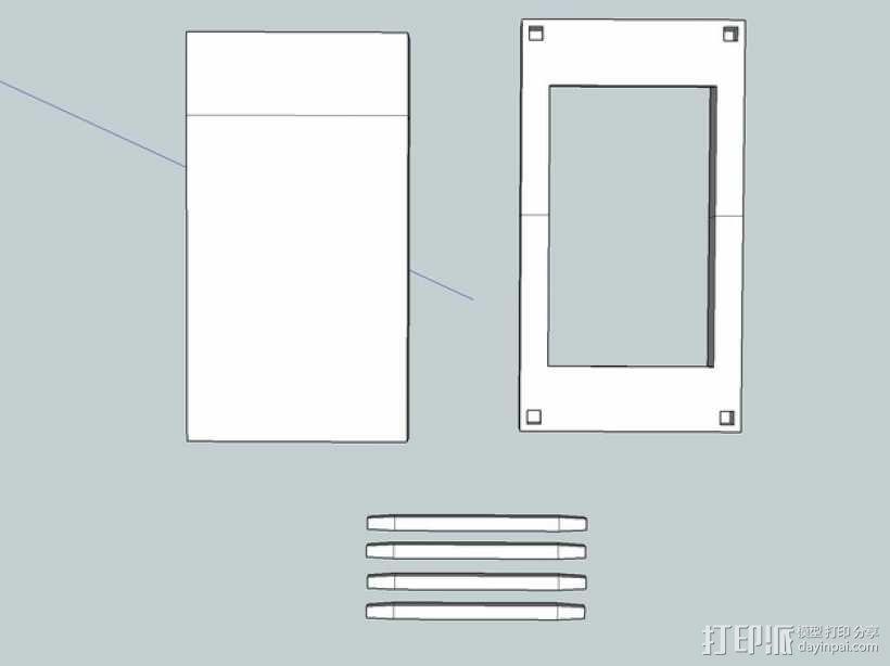 iPhone 5/S/C + iPod Touch全息室 3D模型  图5