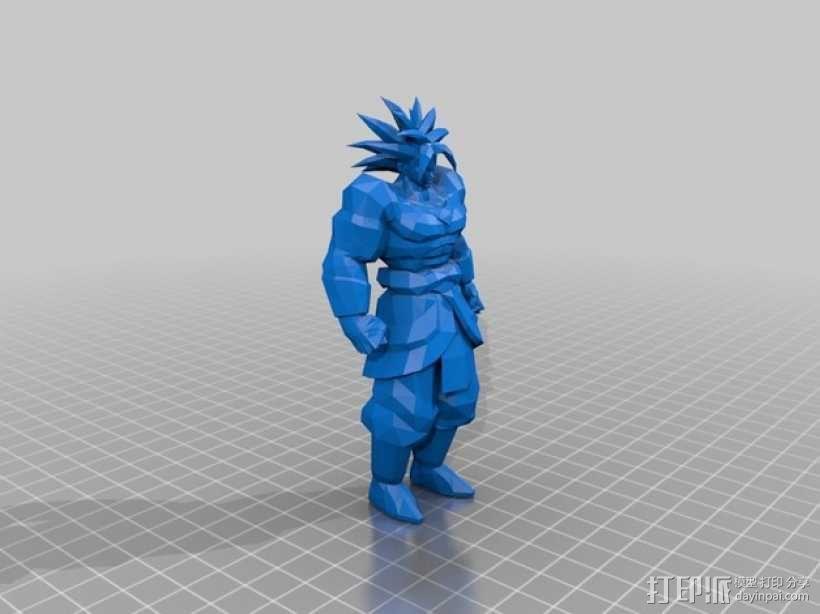 Broly七龙珠人物模型 3D模型  图2