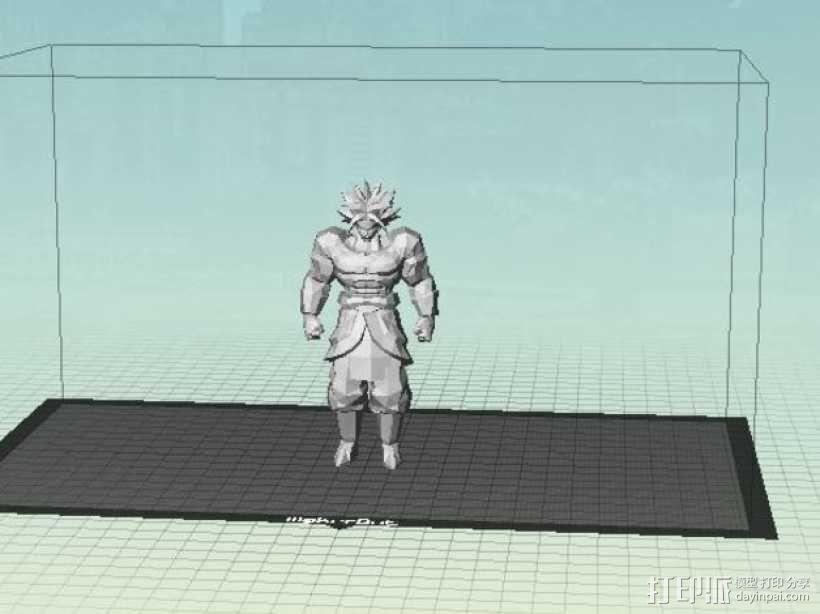 Broly七龙珠人物模型 3D模型  图3