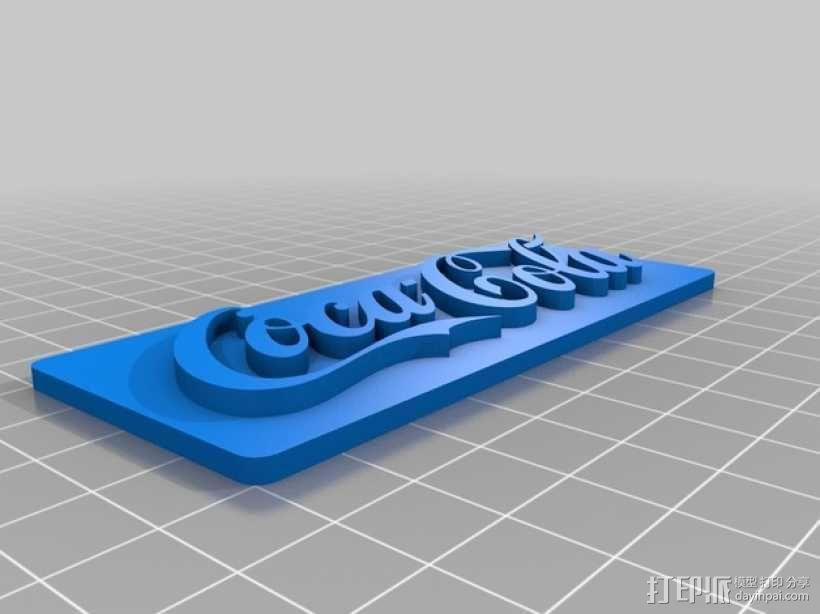 可口可乐标识 3D模型  图1