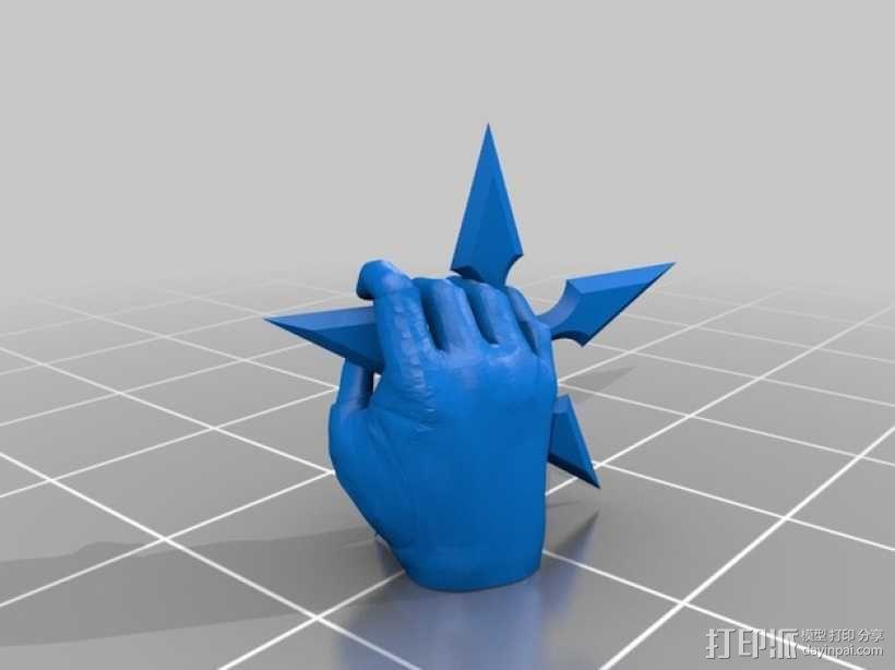 性感动漫忍者的飞镖 3D模型  图3