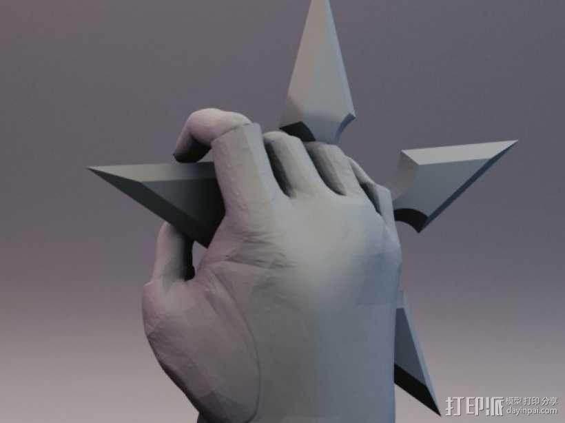 性感动漫忍者的飞镖 3D模型  图6
