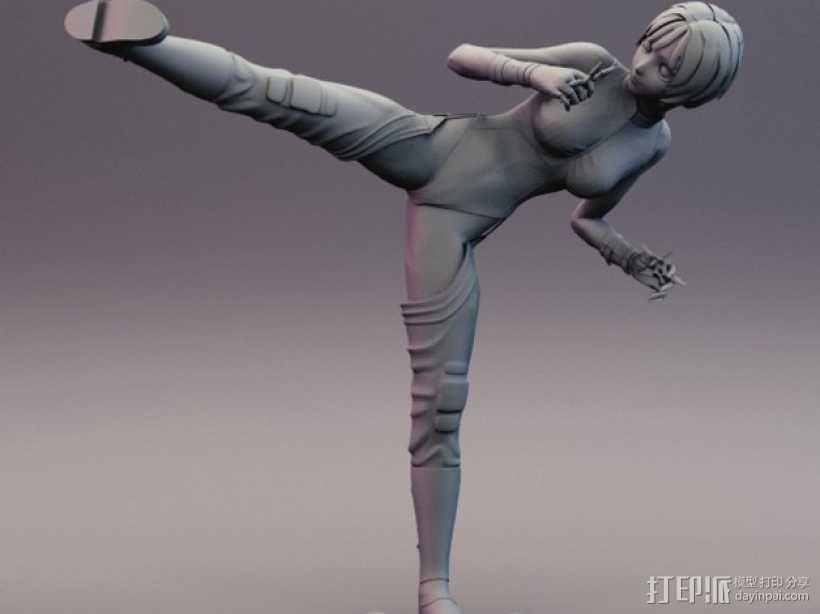 性感动漫忍者的飞镖 3D模型  图10