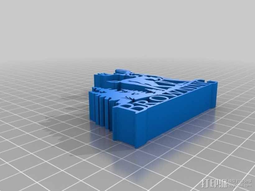 Browning  Logo V2版 3D模型  图2