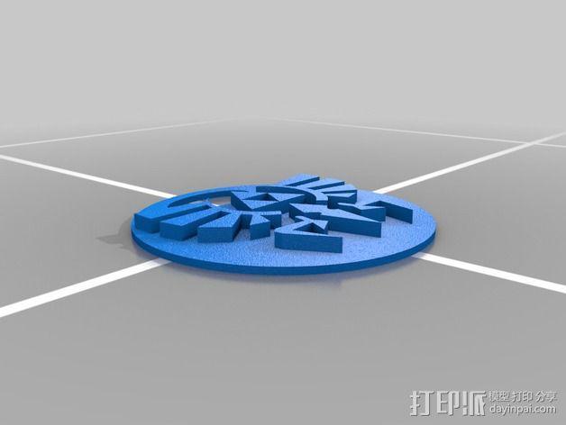 塞尔达  hyrule logo 3D模型  图2