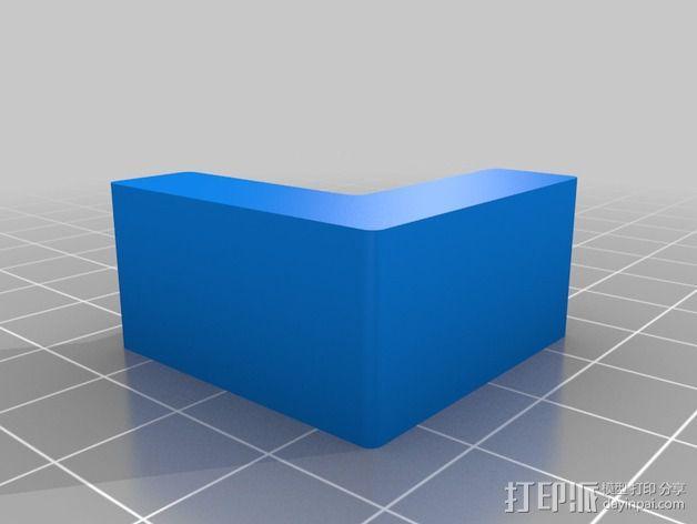 乙烯基封面固定夹 3D模型  图2