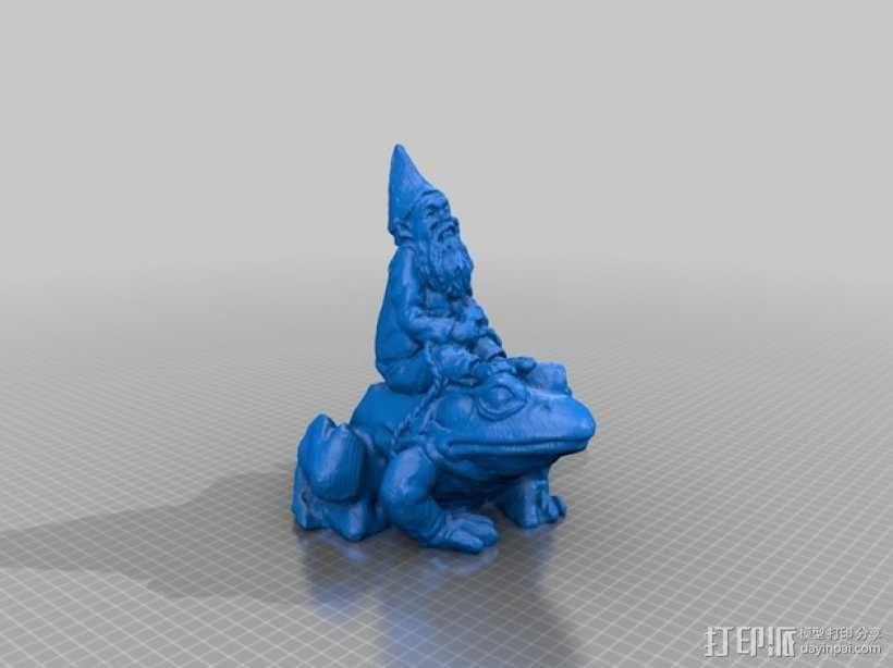 骑青蛙的侏儒 3D模型  图1