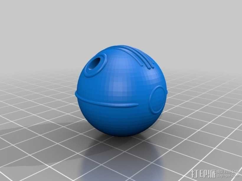飞翔的球 3D模型  图3