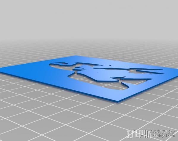 人像漏字板 3D模型  图4