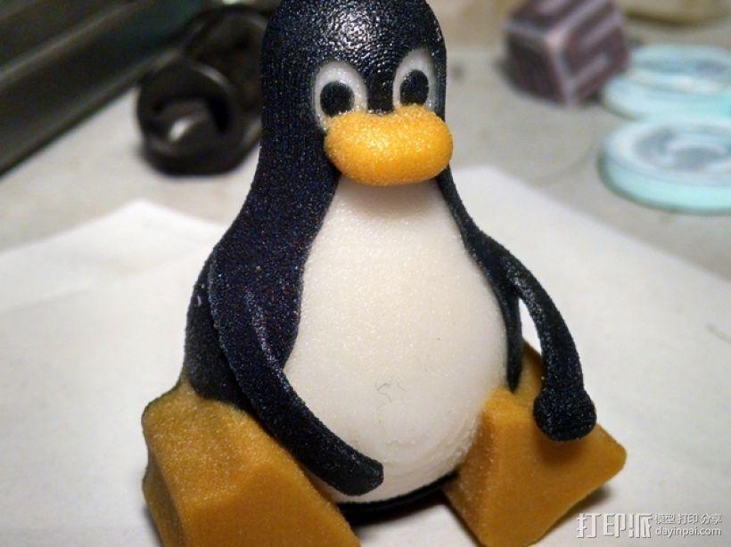 带颜色的企鹅 3D模型  图1