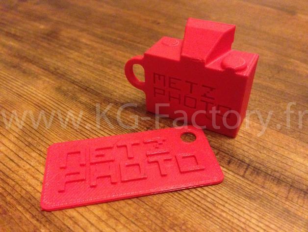 照相机钥匙链 3D模型  图3