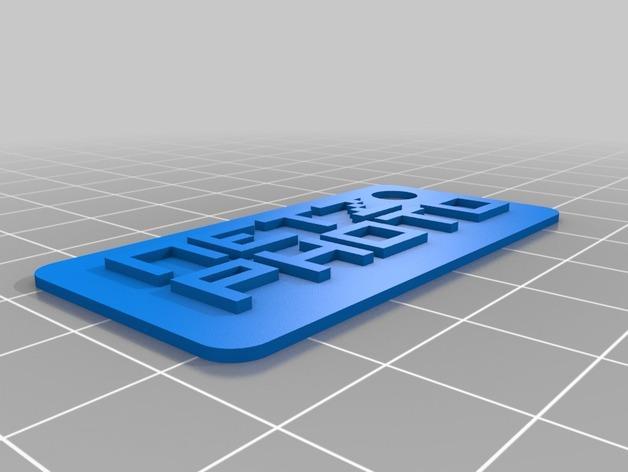 照相机钥匙链 3D模型  图4