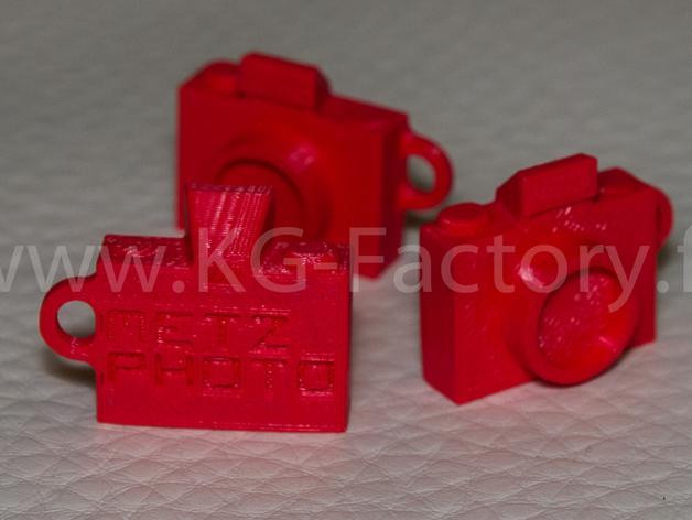 照相机钥匙链 3D模型  图5