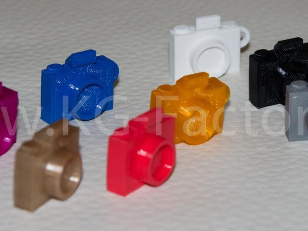 照相机钥匙链 3D模型  图6