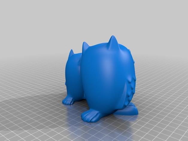 拥抱的猫头鹰 3D模型  图2