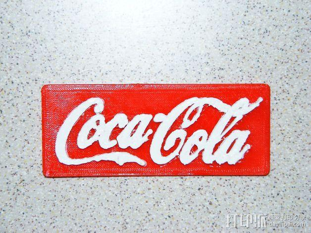 可口可乐Logo 3D模型  图3