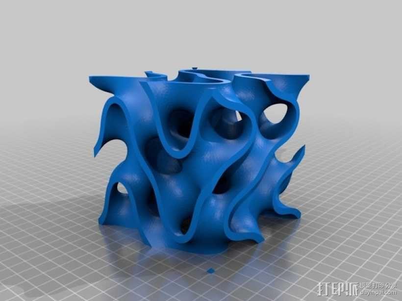 抽象派装饰 3D模型  图1