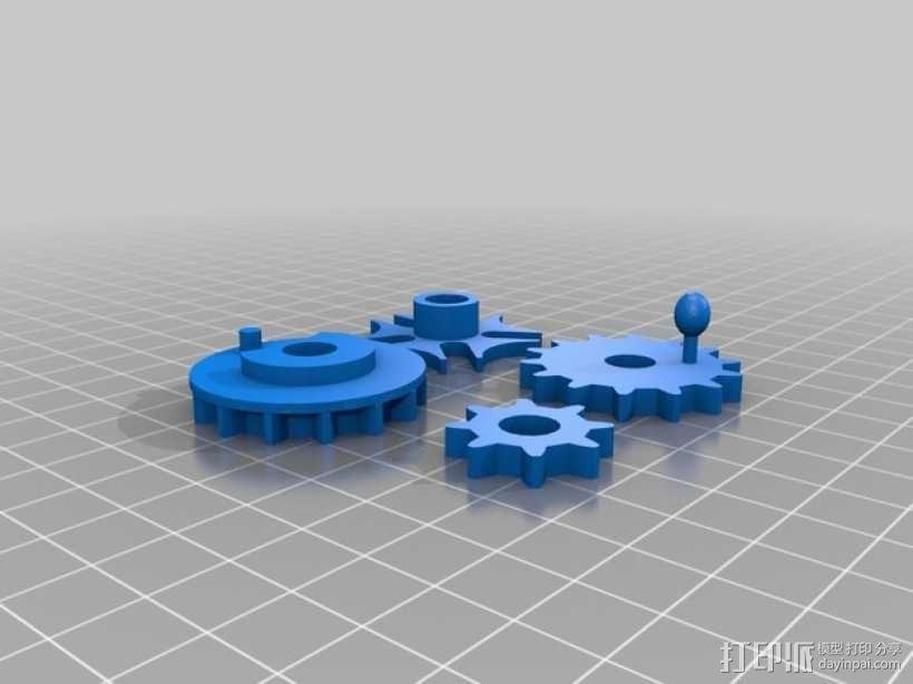 桌面爱心齿轮 3D模型  图2