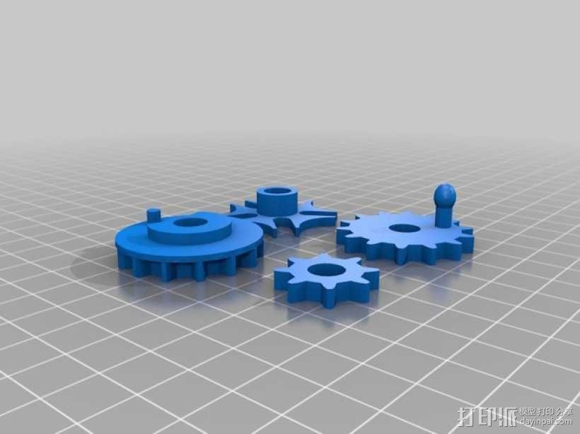 桌面爱心齿轮 3D模型  图3