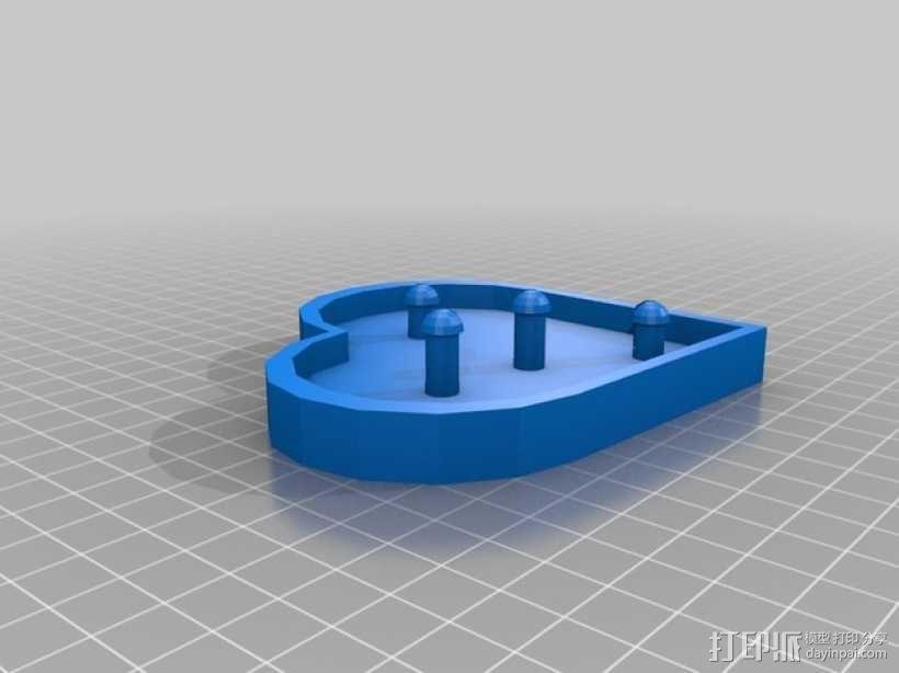 桌面爱心齿轮 3D模型  图4