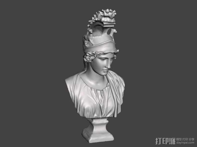 希腊女神半身雕塑 3D模型  图1