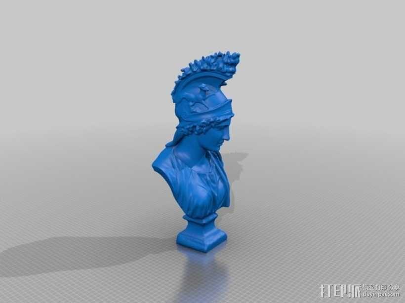 希腊女神半身雕塑 3D模型  图2