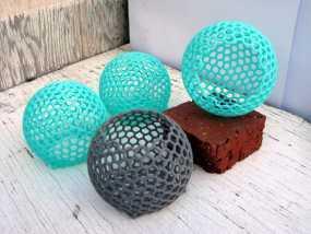 镂空球形容器 3D模型