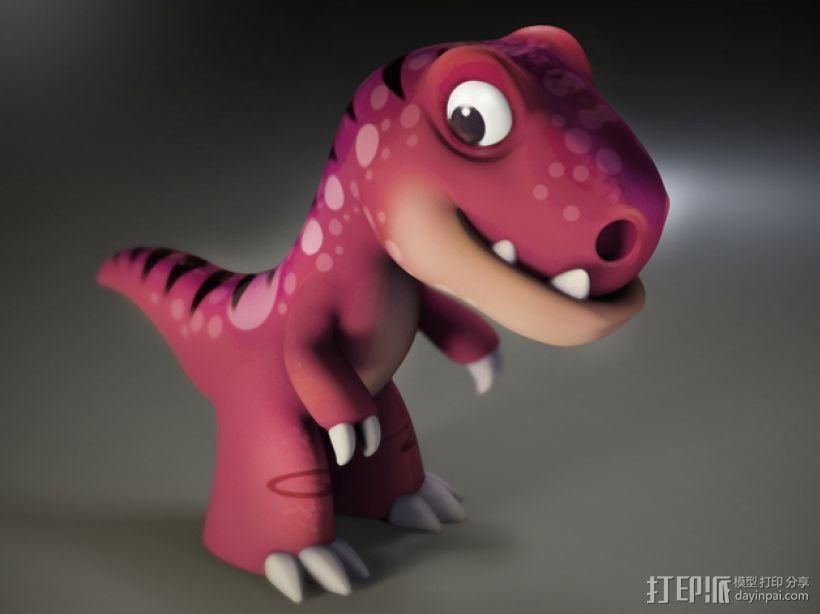 可爱的小恐龙 3D模型  图2