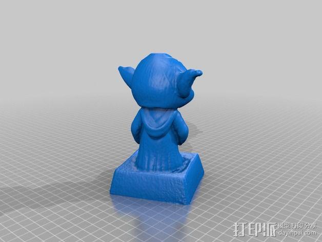 尤达大师 3D模型  图2