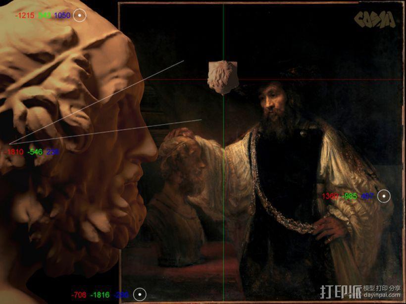 荷马 3D模型  图2